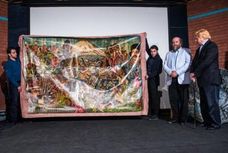 رونمائی از پرده نقاشی جنگهای ایران به مناسبت آزاد سازی خرمشهر
