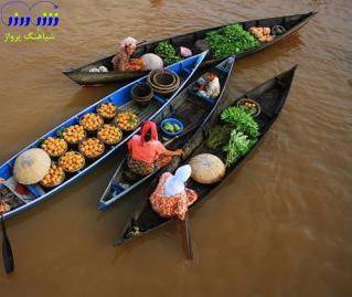 بازار شناور، اندونزی